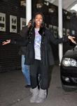 Alexandra Burke X Factor winner seen leaving the...