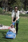 Ali Landry plays with daughter the Coldwater Canyon...