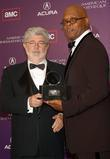 George Lucas and Samuel L. Jackson