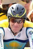 Lance Armstrong taking part in the Amgen Tour...