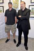 Andy Roddick and Charles Fazzino