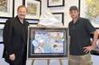 Charles Fazzino and Andy Roddick