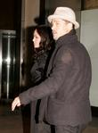 Angelina Jolie and Brad Pitt leaving the Nobu...