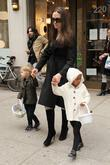 Angelina Jolie, Zahara Jolie-pitt and Shiloh Jolie-pitt Pick Up Art Supplies At Lee's Art Shop In Midtown Manhattan