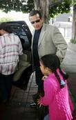 Los Angeles Mayor Antonio Veragosa Leaving The Ivy In West Hollywood After Having Lunch With His Family