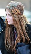 Mischa Barton, Wearing A Feathered A Headpiece and Enjoying A Day Out With Friends In Primrose Hill