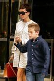 Victoria Beckham, son Brooklyn Beckham, Manhattan Hotel