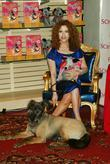 Bernadette Peters and her dog Kramer