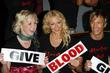 Victoria Hart, Liz Fuller and Rick Parfitt