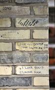 Graffiti outside the home of Boy Geroge aka George Alan O'Dowd