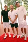 Mike Bryan and Andre Agassi