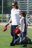 Calista Flockhart, Her Son, Liam and Leaving A Brentwood Park After A Game