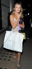 Abbey Clancy leaving the Dorchester Hotel, having attended...