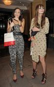 Mischa Barton, female friend leaving the Dorchester Hotel, having attended a party, Dorchester Hotel