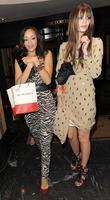 Mischa Barton, female friend leaving the Dorchester Hotel and having attended a party