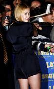 Dakota Fanning and David Letterman