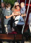 Tori Spelling and Family at Pumpkin Patch in...