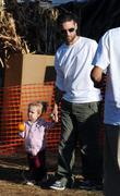 Tobey Maguire and daughter Ruby at Pumpkin Patch in West Hollywood.