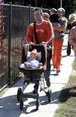 Nicole Sullivan and family at Pumpkin Patch in West Hollywood
