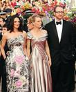 Asia Argento, Robin Wright Penn and guest