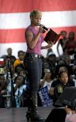Mary J. Blige Speaking At The Last Chance For Change Rally At Florida Memorial College