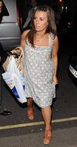Coleen Rooney Arriving At Her Hotel