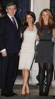 Gordon Brown, Cheryl Cole, Kimberly Walsh, 10 Downing Street