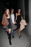 Caroline D'Amore and friends outside Crown Lounge Los...