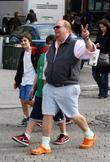 American chef Mario Batali has lunch with his...
