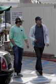 David Charvet and His Father Leaving After Having Lunch At Cafe Med In West Hollywood