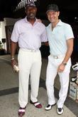 Dennis Haysbert and Oscar De La Hoya