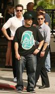 Kevin Dillon, Jerry Ferrara and Kevin Connolly filming...