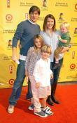 Christa Miller and family