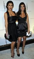 Kim Kardashian and Kourtney Karashian