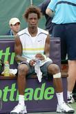 Gael Monfils plays against Marat Safin during day...