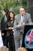Dhani Harrison, Eric Idle, George Harrison and Olivia Harrison