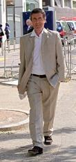 John Stapleton leaves the GMTV studios after appearing...