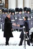 British Pm Gordon Brown Meets Chinese Pm Wen Jiabao At 10 Downing Street