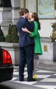 Leighton Meester and Chace Crawford filming a kissing scene