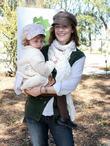 Sarah Clark with her daughter