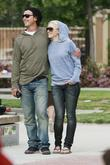 Gwen Stefani and her husband Gavin Rossdale cuddle...