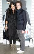 Camilla Freeman and Marc Freeman at the Harpers...