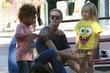 Heidi Klum, her son Henry and her daughter Helene