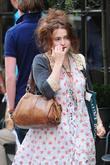 Helena Bonham Carter out and about in central...