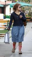Helena Bonham Carter  seen leaving Coffee Bean...
