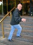 Figure Skater Scott Hamilton outside his Manhatten hotel