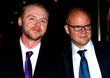 Simon Pegg and Toby Young