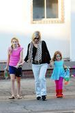 Jennie Garth leaves a medical building with her...