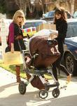 Jessica Alba, daughter Honor Marie shopping at Bel Bambini in West Hollywood and then going to a baby shower in Palos Verdes.