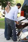 Jessica Alba and Cash Warren Take Their Daughter Honor Marie As They Visit A Friend In Brentwood